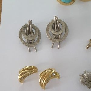 Jewelry - 15 pairs vintage clip on earrings